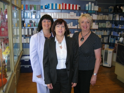 Loraine, Frances and Vivien in reception area