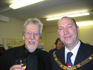 Grenville Jones and the Mayor of Bath Tim Ball