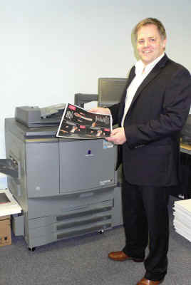 Jason Hindle MD of Ralph Allen Press with new Digi Printer