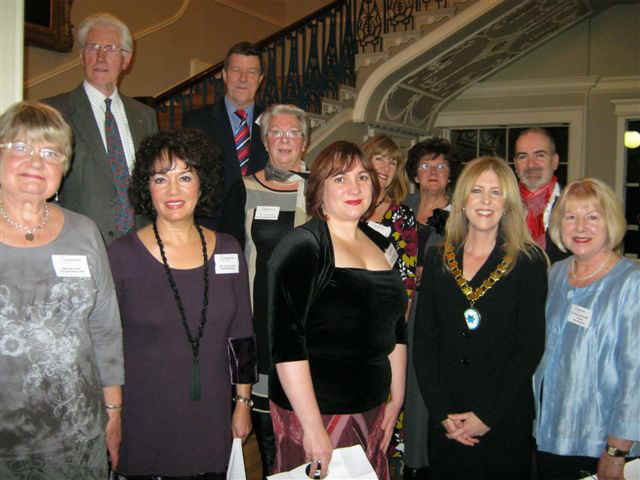 Silver Ring Choir members with Sarah Bevan and Cllr.Marian McNeir MBE