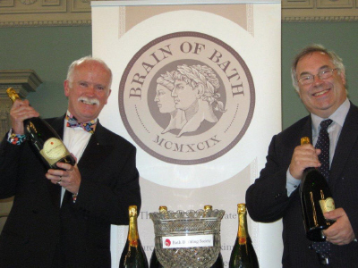 Cecil and Dick with new logo and first prize