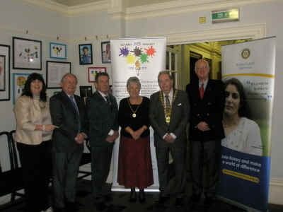 Chairman's launch reception with Sponsors Bathavon Rotary club & Olympc arts creators Loraine & Kevin