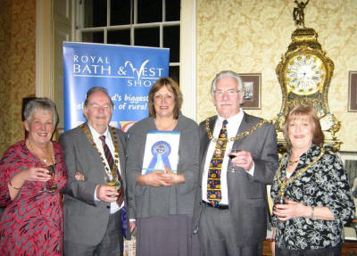 Chairman Peter Edwards, consort Ann, Jane Guise, Mayor Bryan Chalker and Mayoress Glynys