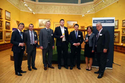 Beckford James partners with High Sheriff of Somerset John Cullum & Bath Rugby players.