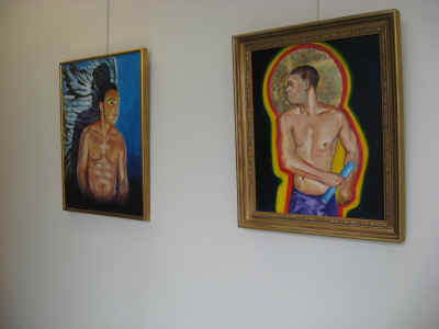 Kevin Whitney's paintings at the RUH