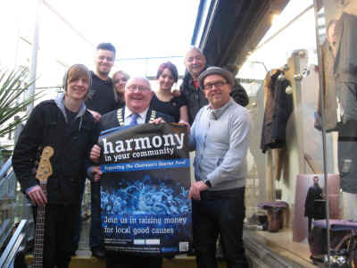 Harmony in Your Community First event at Bonghy-Bo Chairman,Clyve,Jon-Jay & Staff from the restaurant
