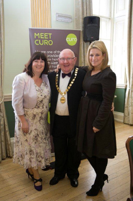 Cllr. Rob Appleyard, Imogen Sellers (Show compere) and Loraine