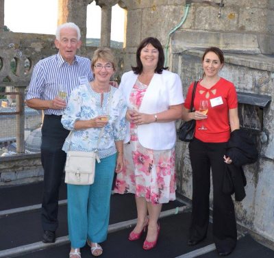 Guests enjoyed a glass of Champagne while on the Abbey roof