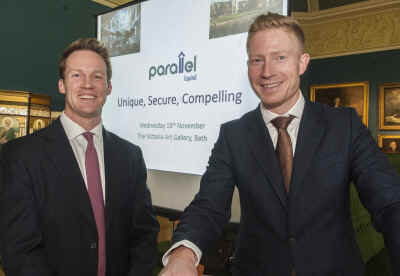 L-R Will Wyld and Tim Lambert (Parallel Capital reception hosts)