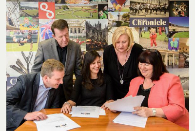 Loraine and the other judges for Bath Chronicle 2015 Pride Awards