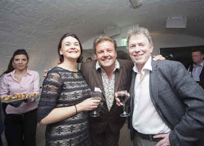 Book supporters Garry Yoxhall and Rachel Yoxhall-James with Martin Roberts